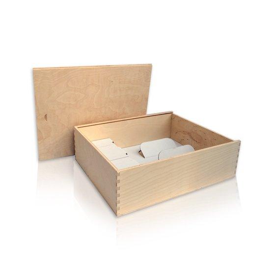 Drvena kutija za 3 boce eko
