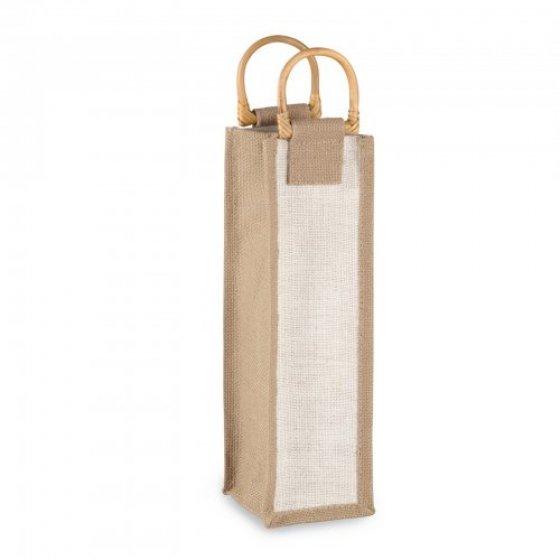 Jutena poklon vrećica za 1 bocu