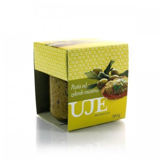 Uje Selekcija Pasta od zelenih maslina 190 g