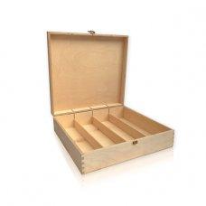 Drvena kutija za 4 boce