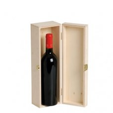 Wooden gift box for one bottle.